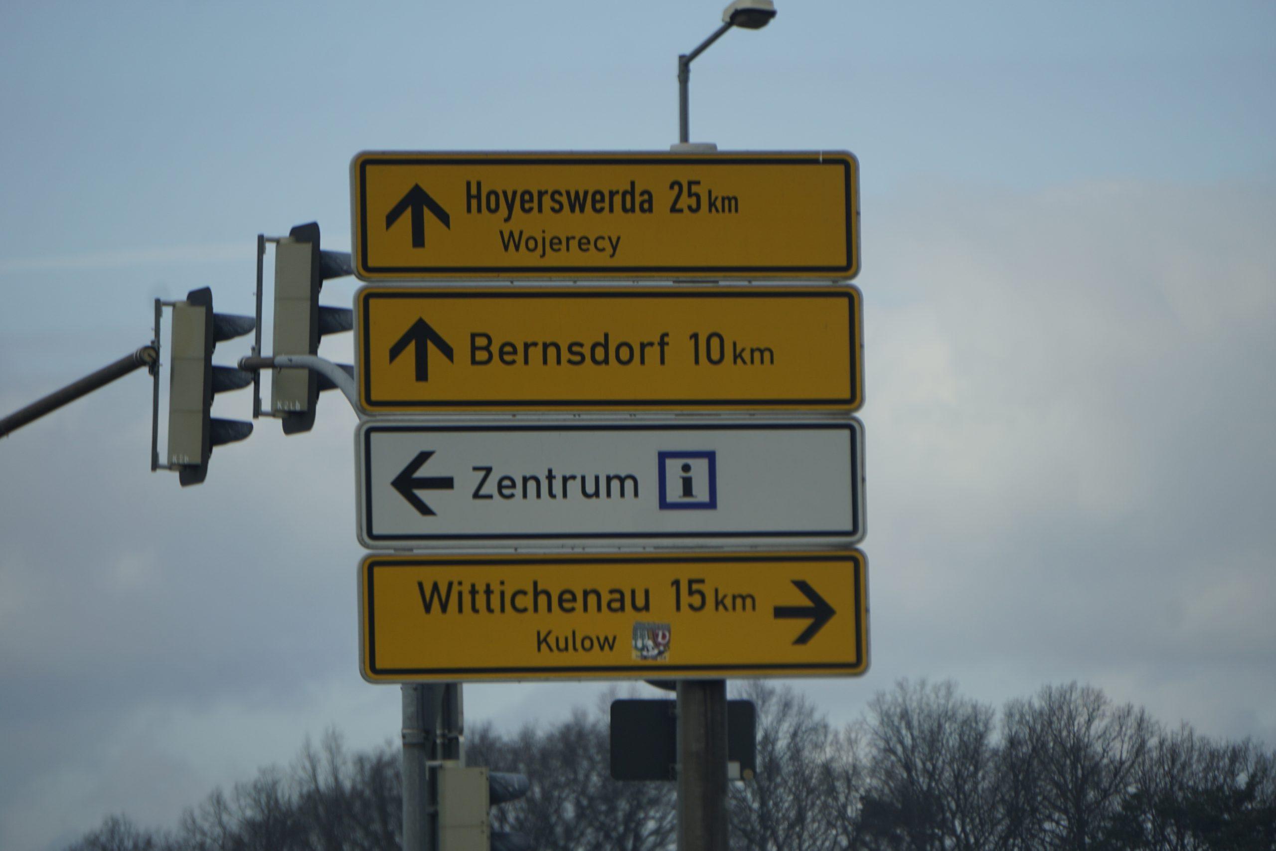 Straßenschild - Kulow, HoyWoy, Schiebock