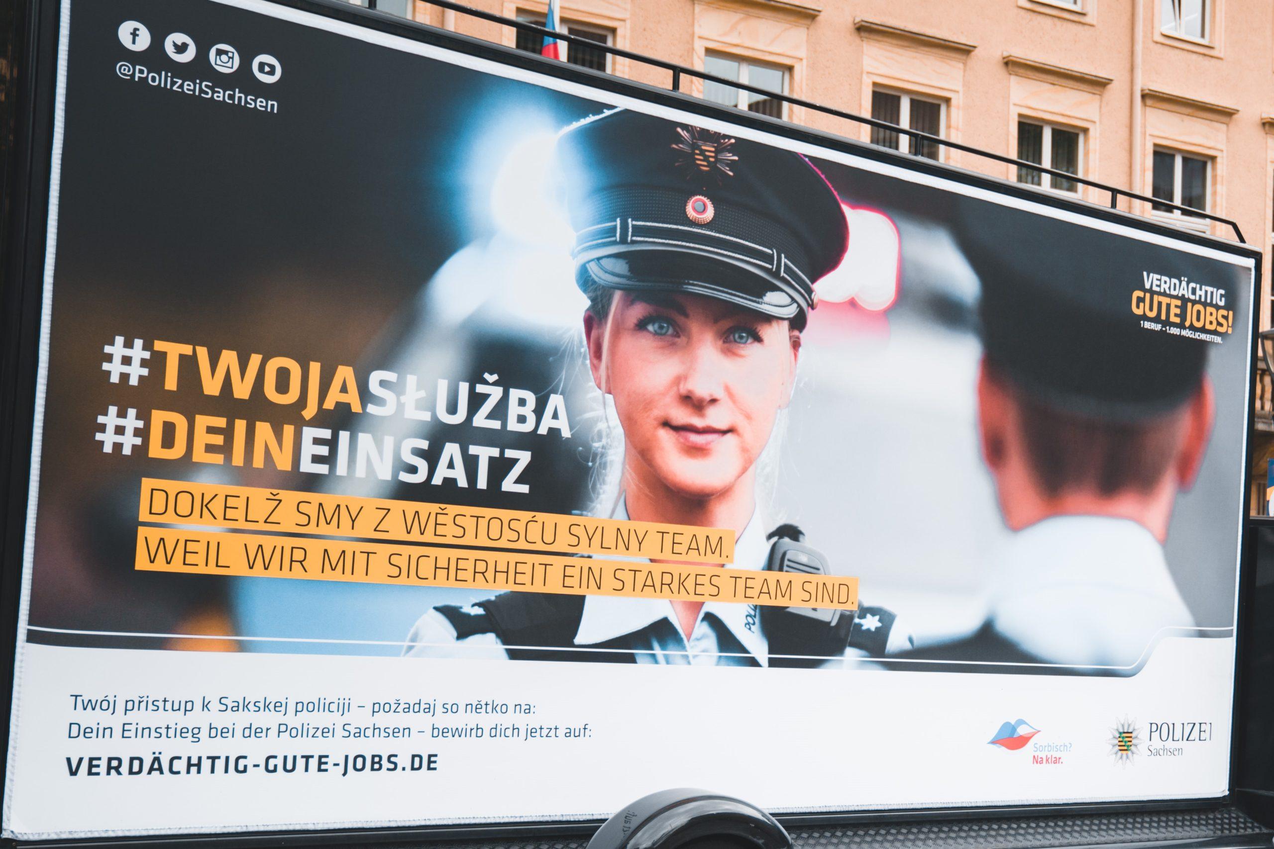 """Plakat von """"Verdächtig gute Jobs"""""""